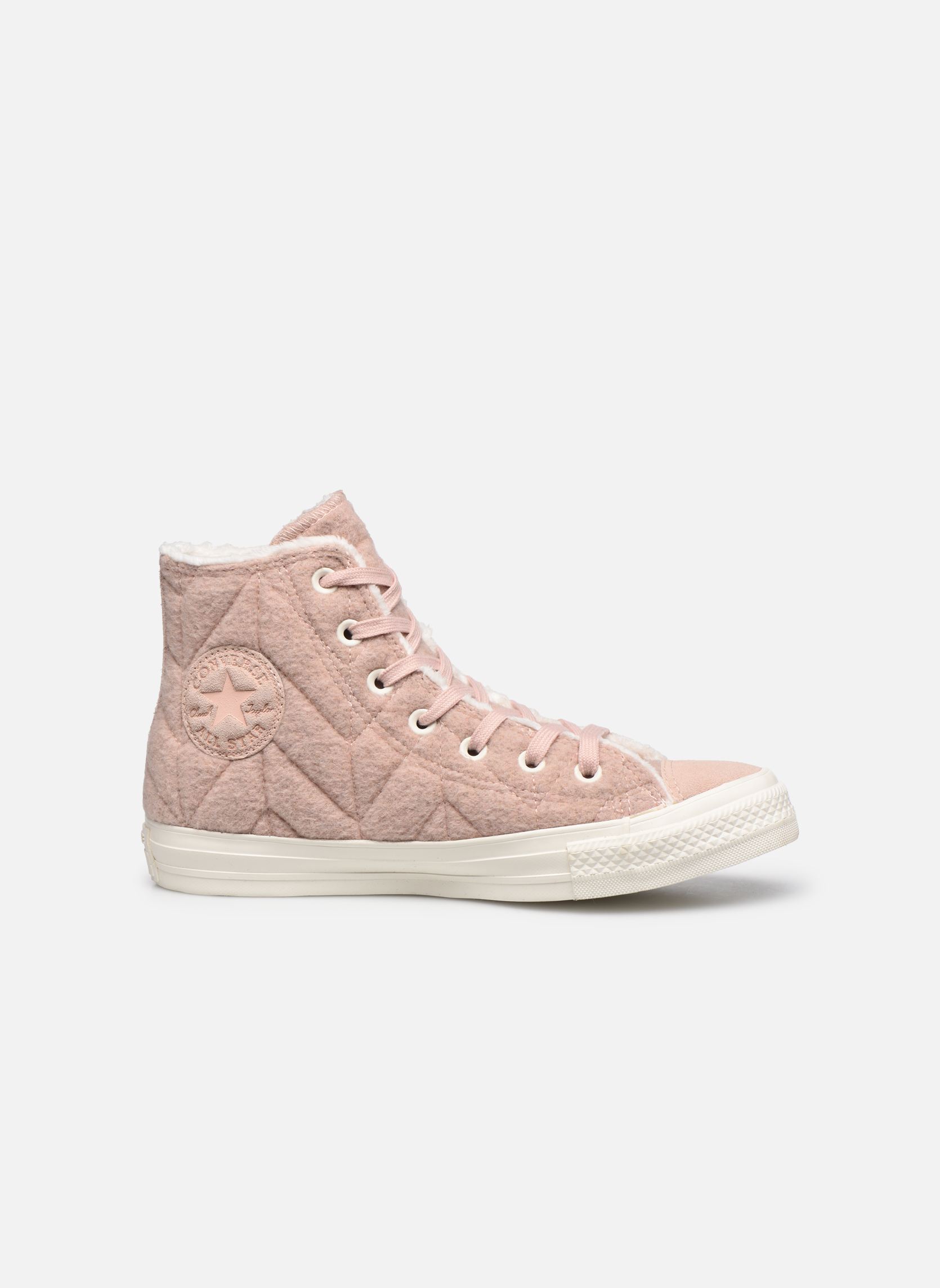 Sneakers Converse Chuck Taylor All Star Wool Hi Roze achterkant