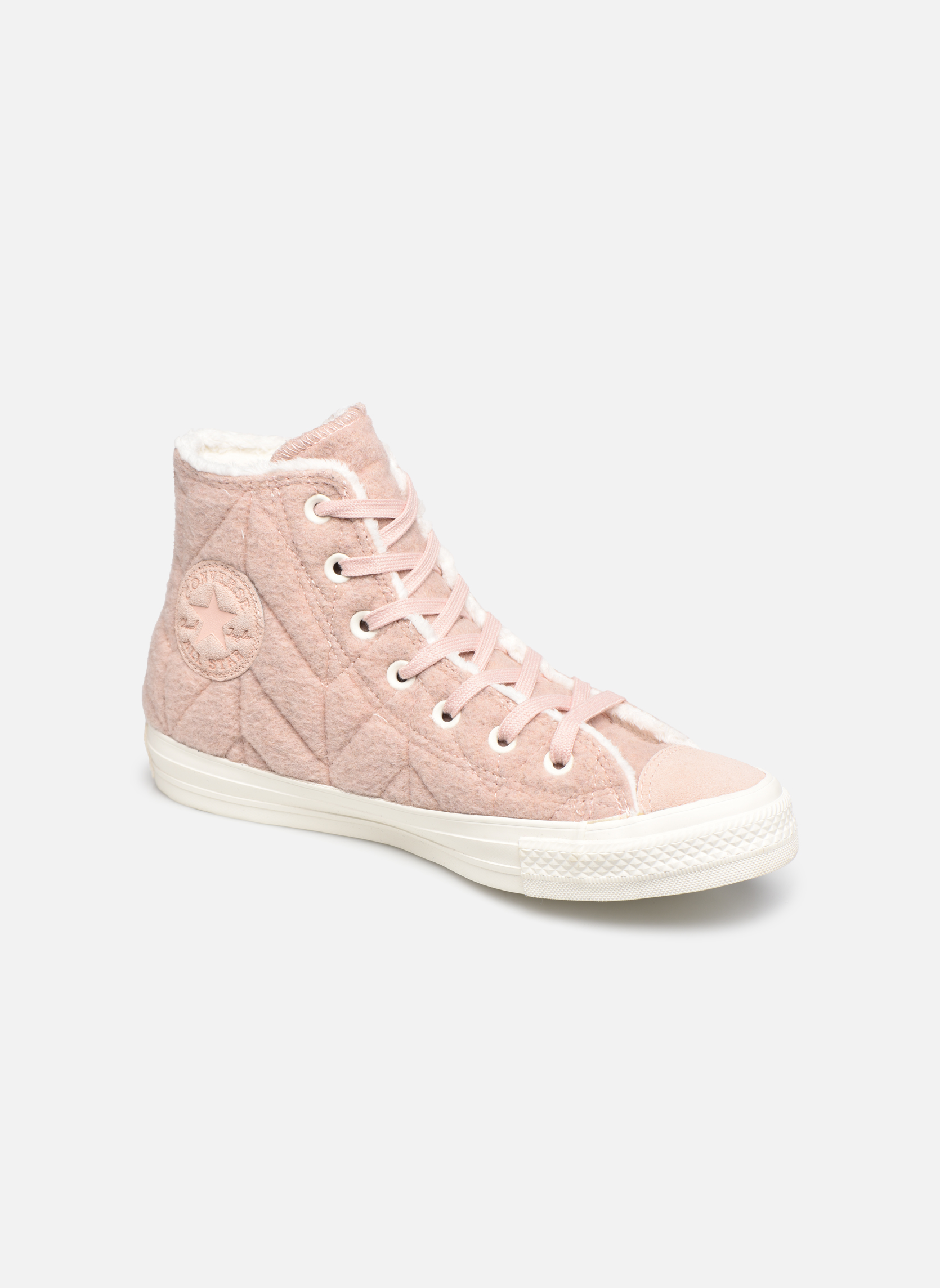 Converse Chuck Taylor All Star Wool Hi (Rose) - Baskets chez Sarenza (310792)