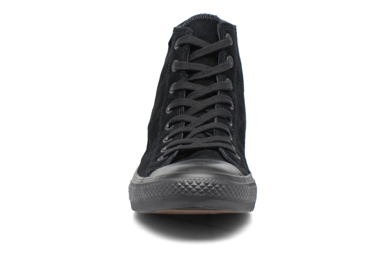 Sneaker Converse Chuck Taylor All Star Plush Suede Hi schwarz schuhe getragen