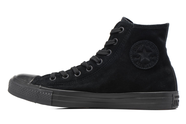 Sneaker Converse Chuck Taylor All Star Plush Suede Hi schwarz ansicht von vorne