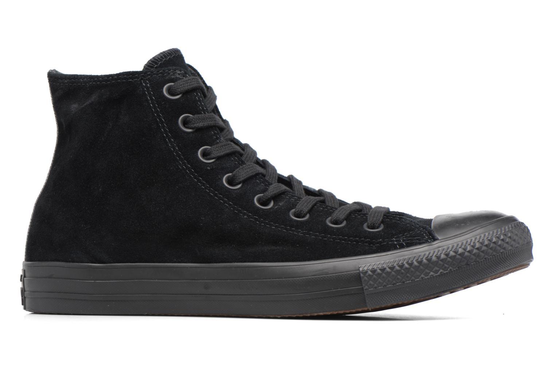 Sneaker Converse Chuck Taylor All Star Plush Suede Hi schwarz ansicht von hinten