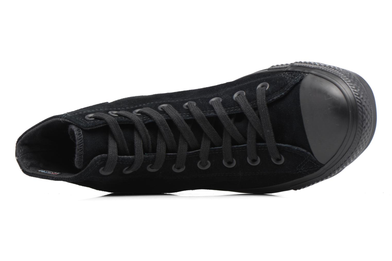 Baskets Converse Chuck Taylor All Star Plush Suede Hi Noir vue gauche