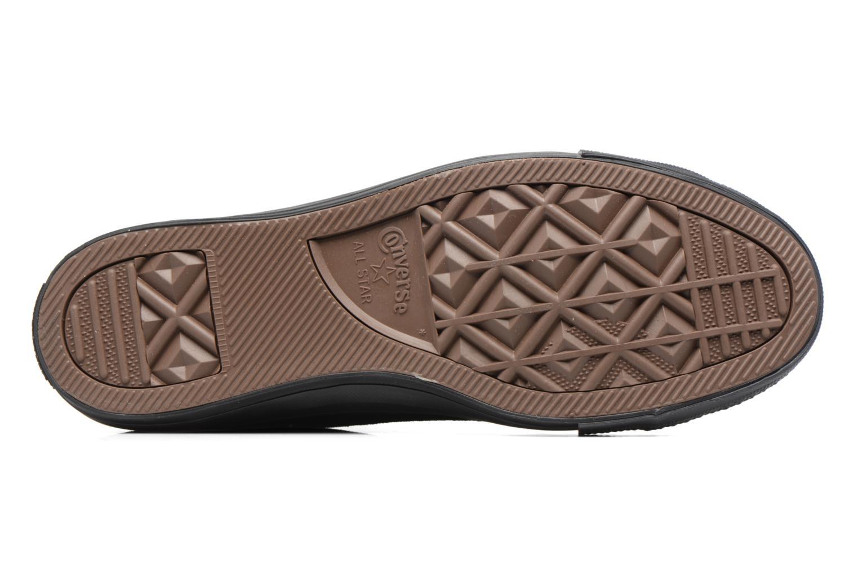Sneaker Converse Chuck Taylor All Star Plush Suede Hi schwarz ansicht von oben