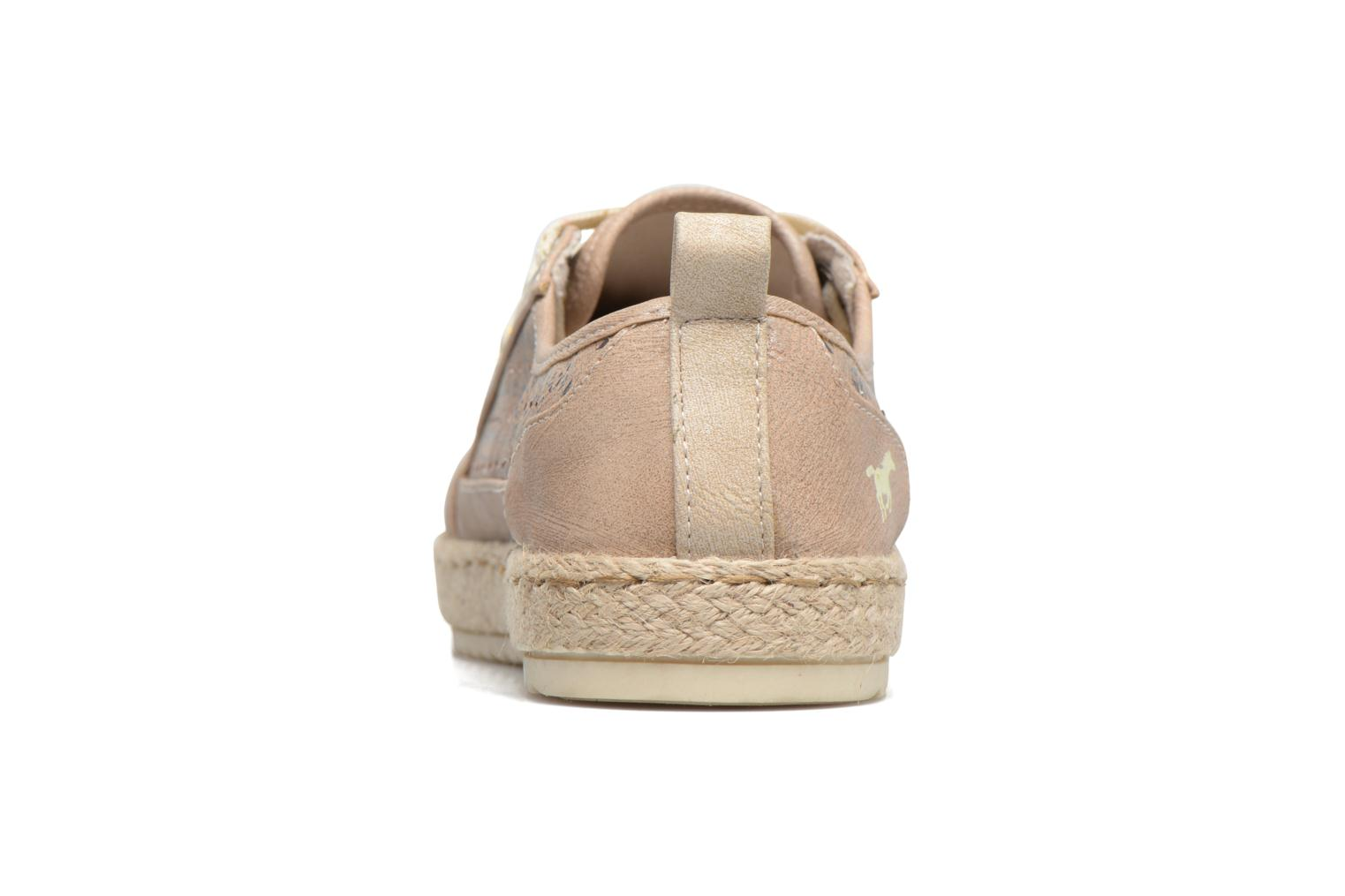 Espadrilles Mustang shoes Padrille Beige view from the right