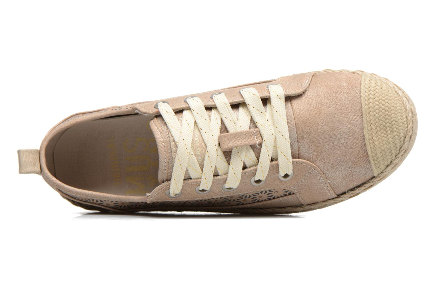 Espadrilles Mustang shoes Padrille Beige view from the left