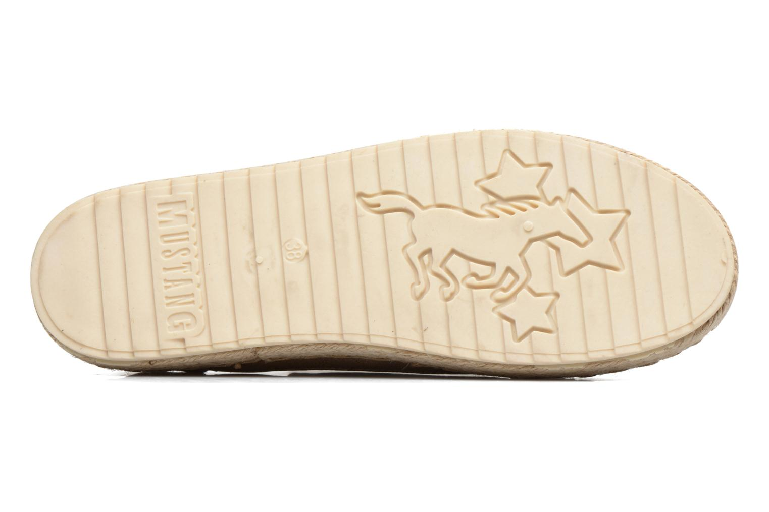 Espadrilles Mustang shoes Padrille Beige view from above