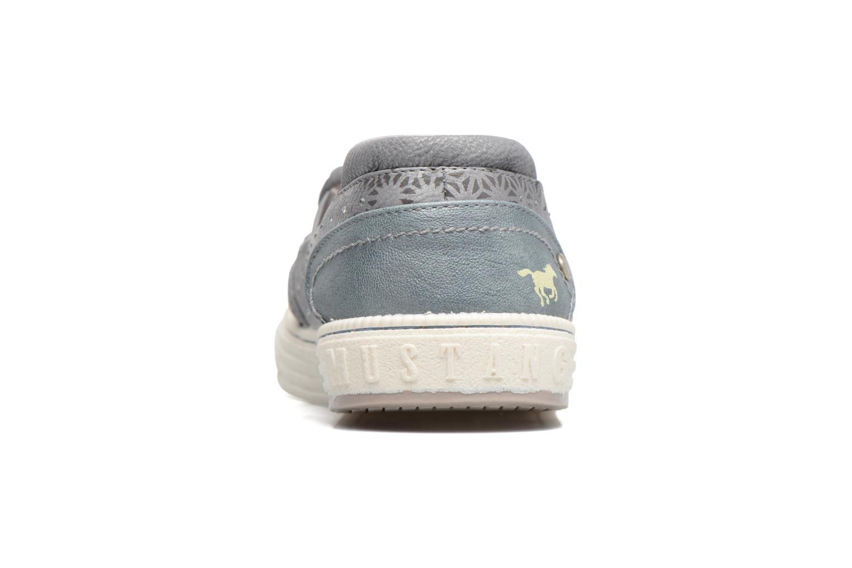 Baskets Mustang shoes Vis Gris vue droite