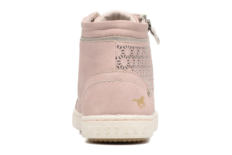 Baskets Mustang shoes Lira Rose vue droite