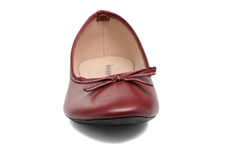 Ballerines Isotoner Ballerine couture Bordeaux vue portées chaussures