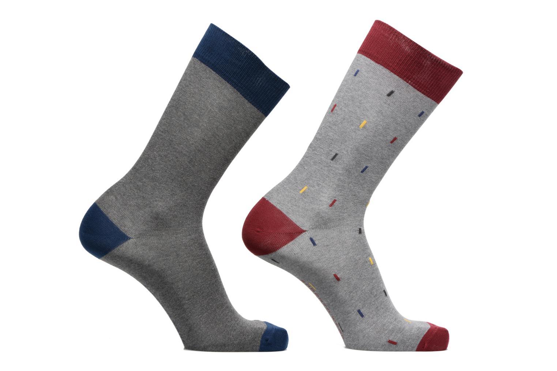 Sokken en panty's Sarenza Wear Chaussettes Homme rectangles Pack de 2 coton Grijs detail