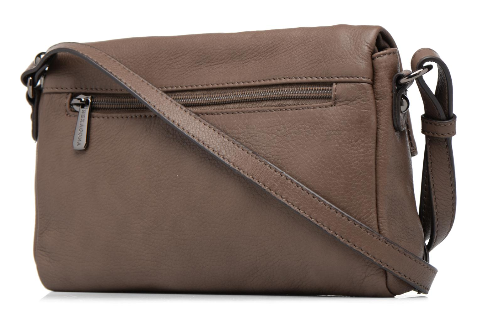 Handbags Hexagona Triangle Brown view from the right