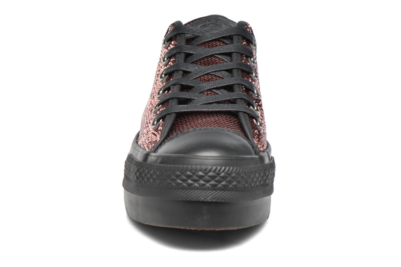 Baskets Converse Chuck Taylor All Star Platform Ox Or et bronze vue portées chaussures