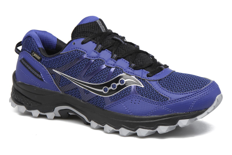 Chaussures de sport Saucony Excursion Tr11 Gtx Bleu vue détail/paire
