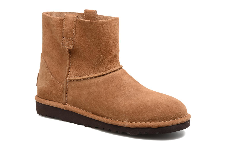 Bottines et boots UGG Classic Unlined Mini Marron vue détail/paire