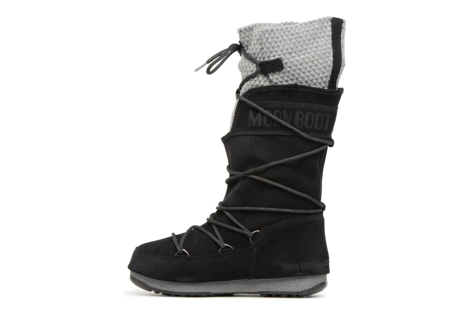 Sport shoes Moon Boot anversa wool Black front view