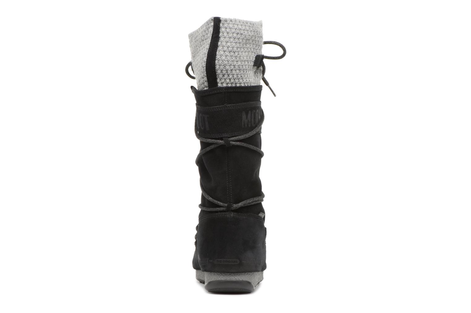 Sport shoes Moon Boot anversa wool Black view from the right