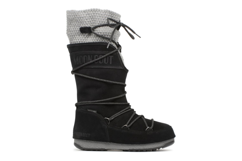 Sport shoes Moon Boot anversa wool Black back view