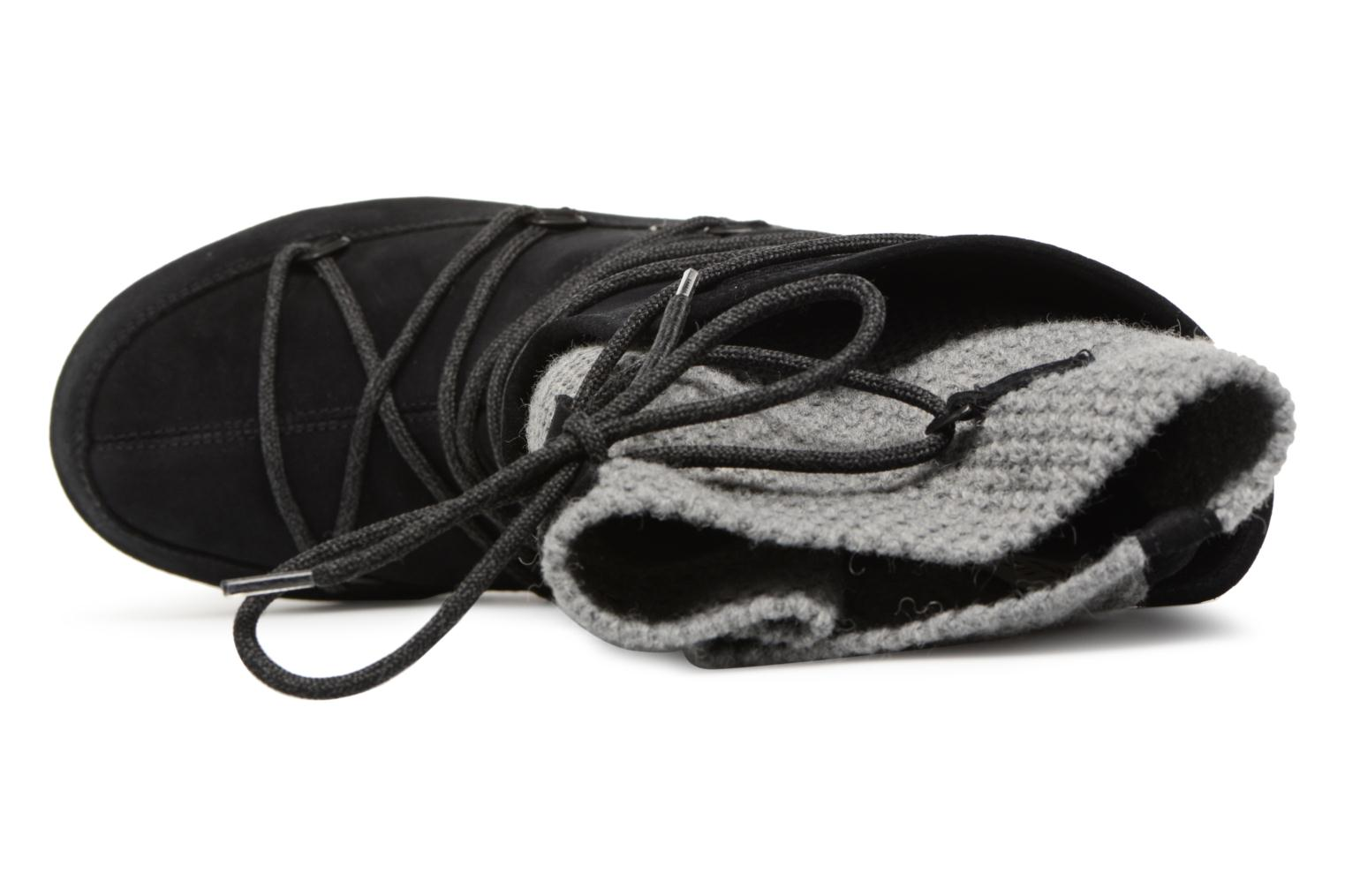 Sport shoes Moon Boot anversa wool Black view from the left
