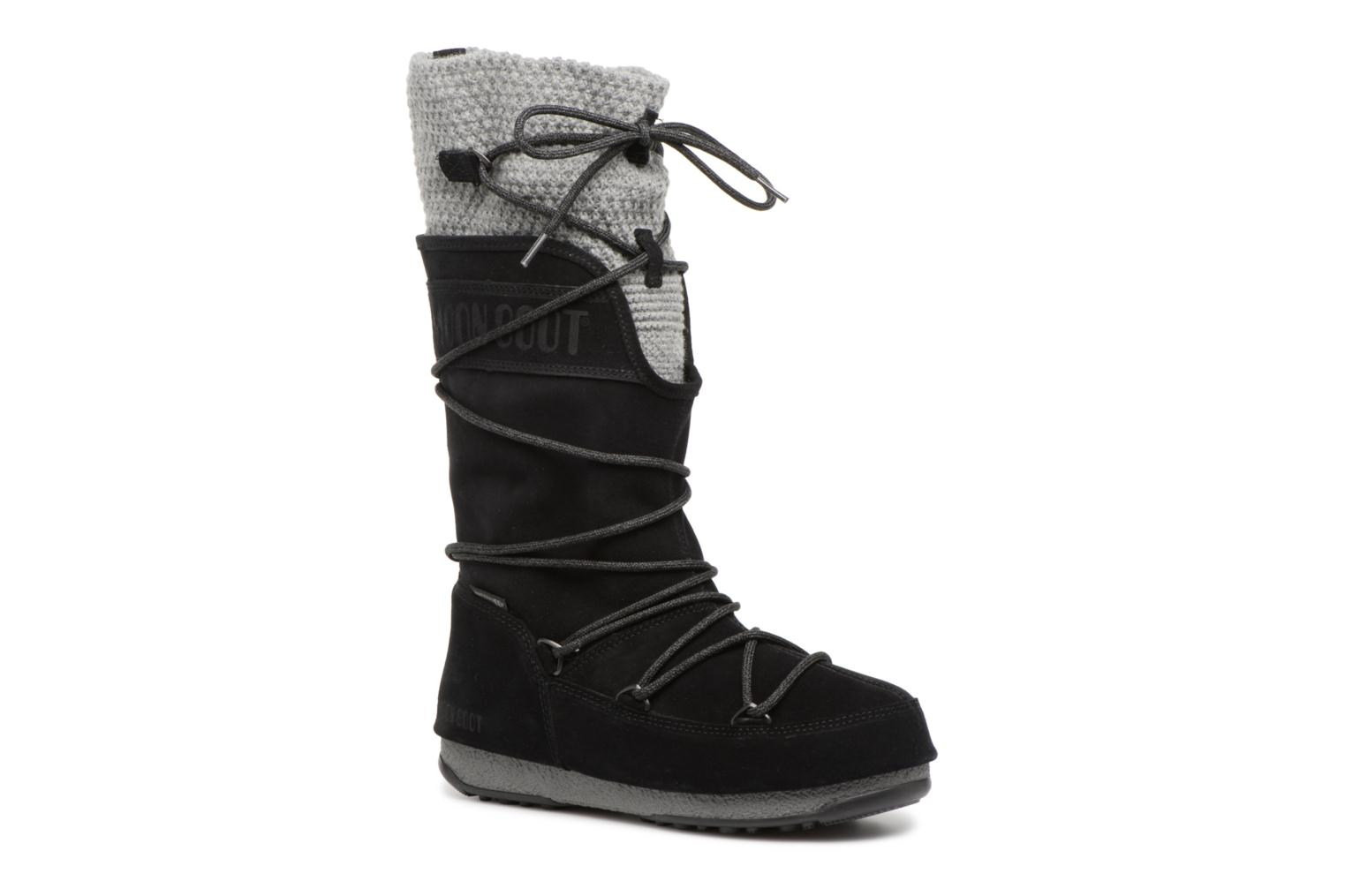 Sport shoes Moon Boot anversa wool Black detailed view/ Pair view