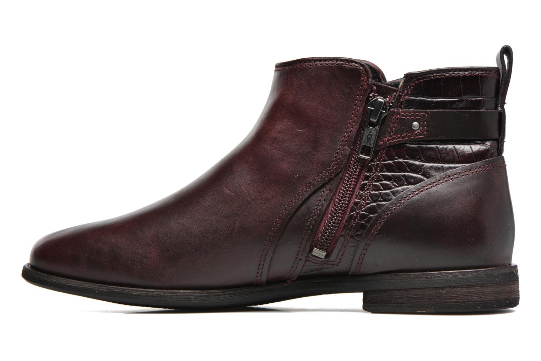 Bottines et boots UGG Demi Croc Bordeaux vue face