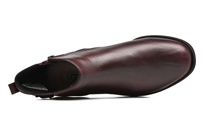 Bottines et boots UGG Demi Croc Bordeaux vue gauche