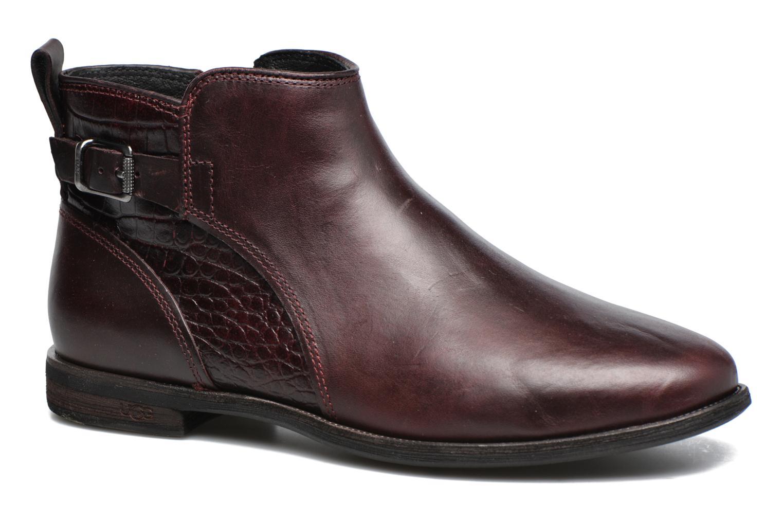 Bottines et boots UGG Demi Croc Bordeaux vue détail/paire