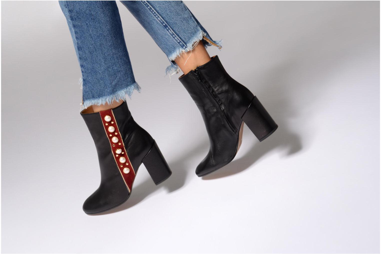 Bottines et boots Jonak Cherry Noir vue bas / vue portée sac