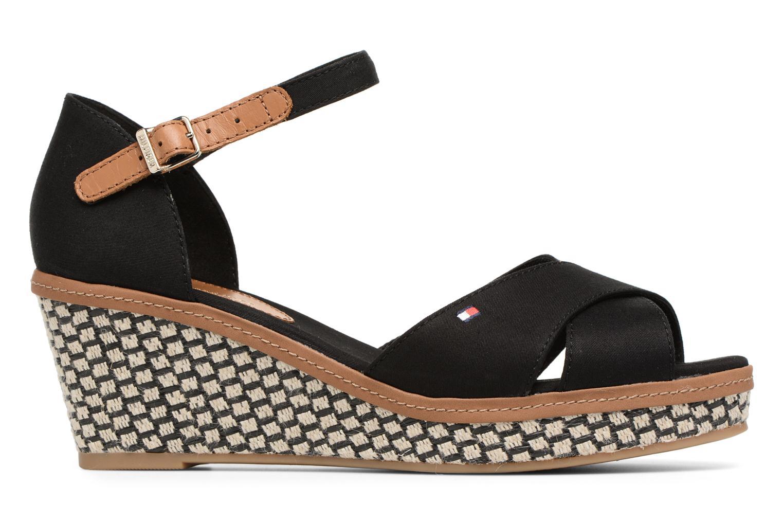 Sandales et nu-pieds Tommy Hilfiger ICONIC ELBA SANDAL BASIC Noir vue derrière