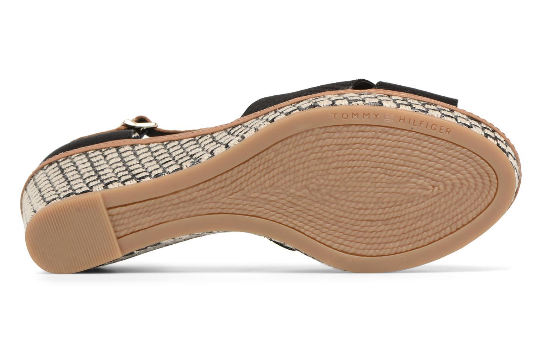 Sandales et nu-pieds Tommy Hilfiger ICONIC ELBA SANDAL BASIC Noir vue haut