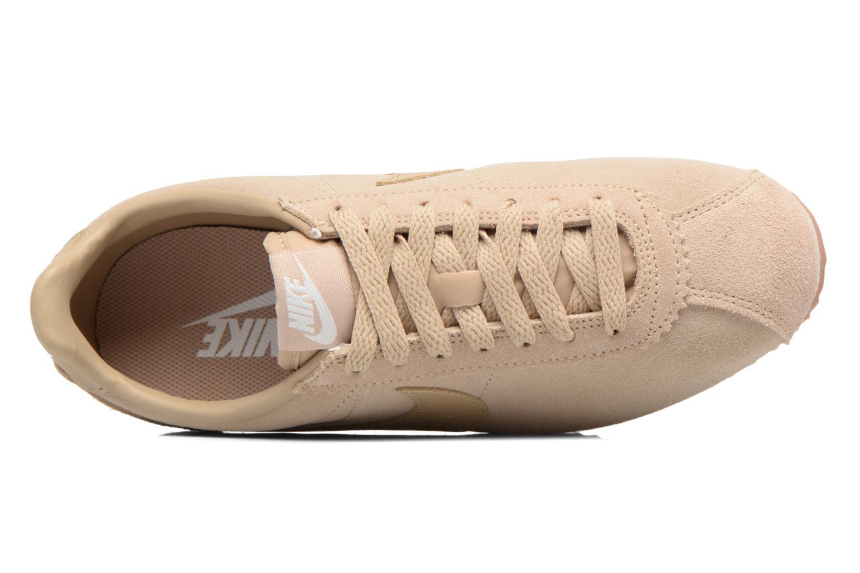 Baskets Nike Wmns Classic Cortez Suede Beige vue gauche