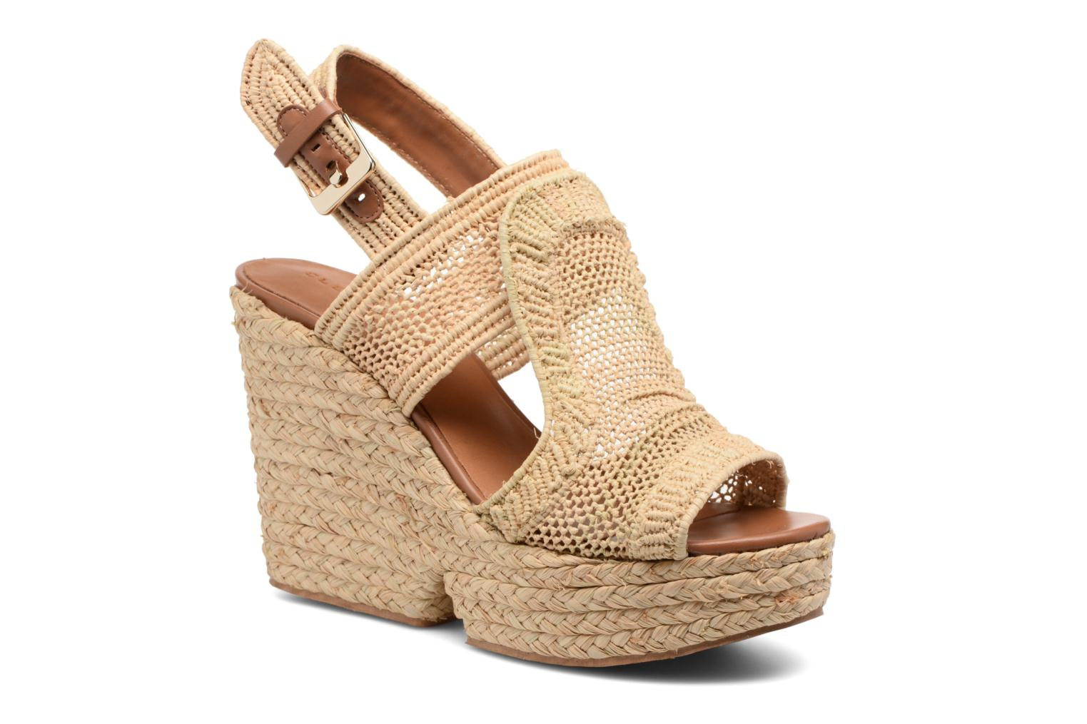 Sandals Clergerie DYPAILLE Beige detailed view/ Pair view