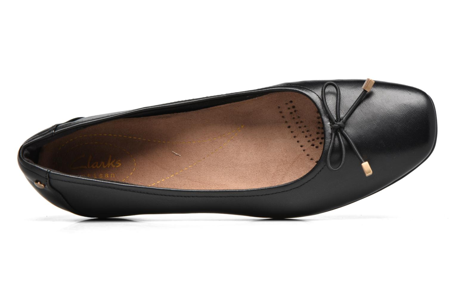 Ballet pumps Clarks Candra light Black view from the left