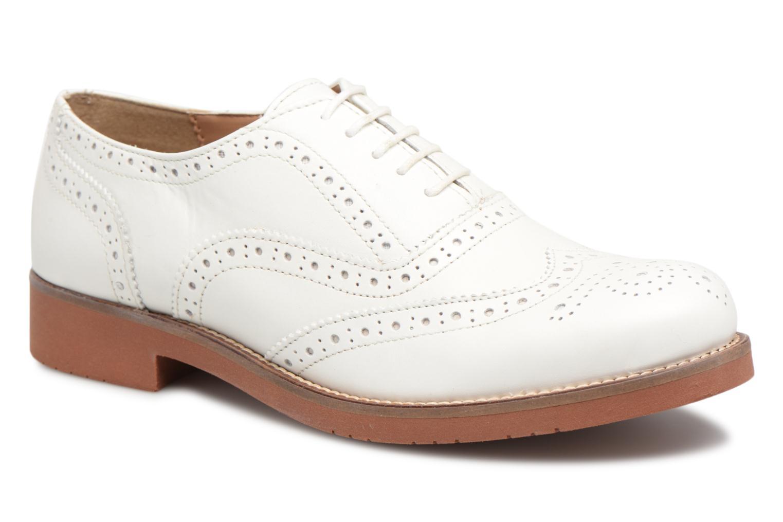 Zapatos promocionales G.H. Bass ALBANY Oxford Brogue Metal (Blanco) - Zapatos con cordones   Cómodo y bien parecido