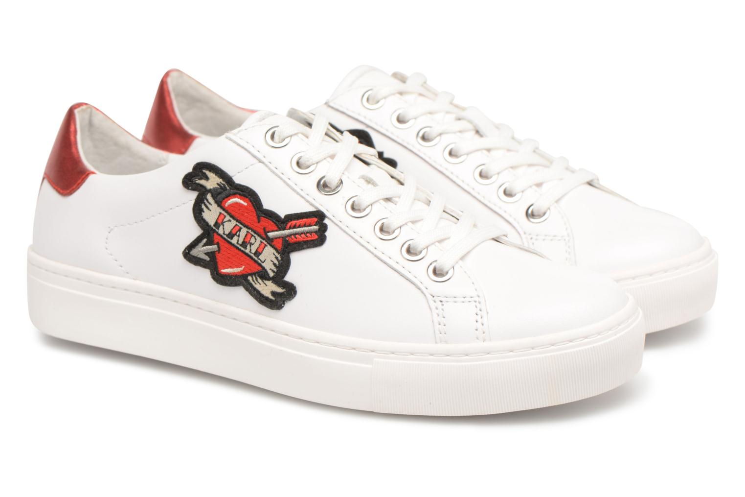 Trainers Karl Lagerfeld KUPSOLE Captain Karl Lace White 3/4 view