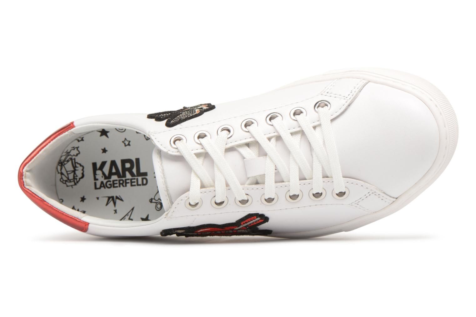 Trainers Karl Lagerfeld KUPSOLE Captain Karl Lace White view from the left
