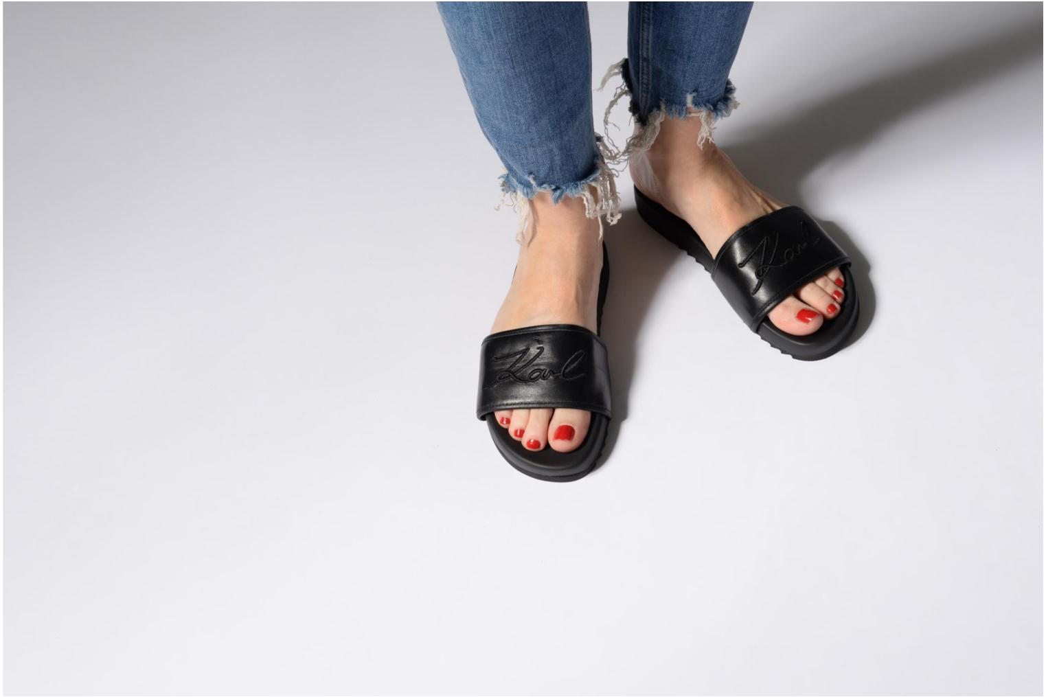 Mules & clogs Karl Lagerfeld KONDO Signature Lthr Slide Black view from underneath / model view