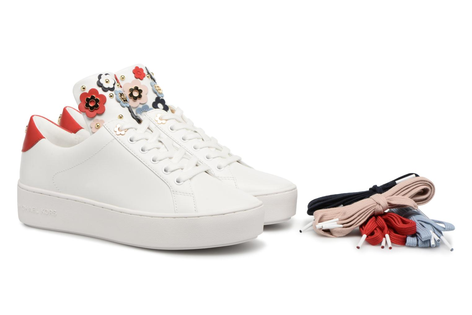 Trainers Michael Michael Kors Mindy Lace Up White 3/4 view