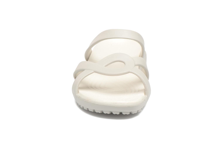 Mules et sabots Crocs Meleen Twist Sandal W Blanc vue portées chaussures