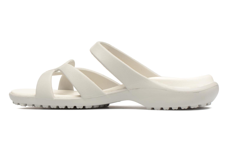 Mules et sabots Crocs Meleen Twist Sandal W Blanc vue face