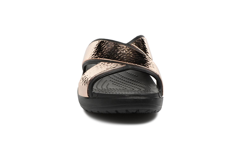 Mules et sabots Crocs Sloane Hammered Xstrp Slide W Or et bronze vue portées chaussures