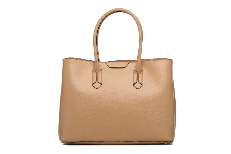 Handtassen Lauren by Ralph Lauren City Tote Tote Embossed Leather Bruin voorkant