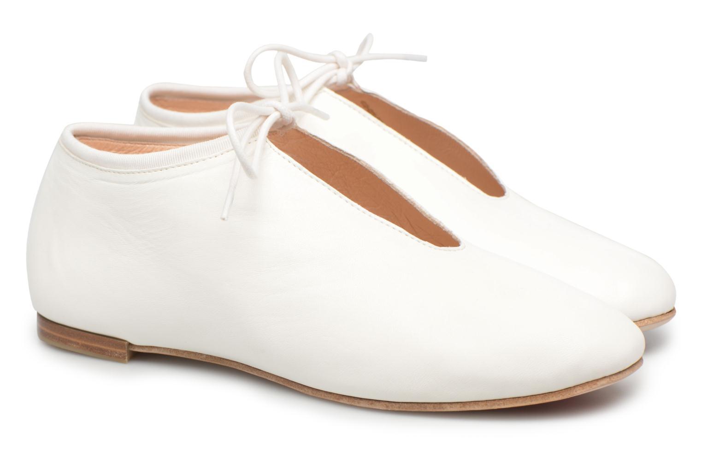 Lace-up shoes Opéra national de Paris Elysee 1421 White 3/4 view