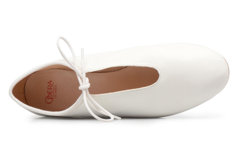 Chaussures à lacets Opéra national de Paris Elysee 1421 Blanc vue gauche