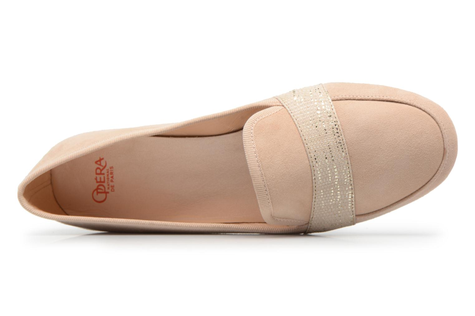Loafers Opéra national de Paris Otty 1404 Beige view from the left