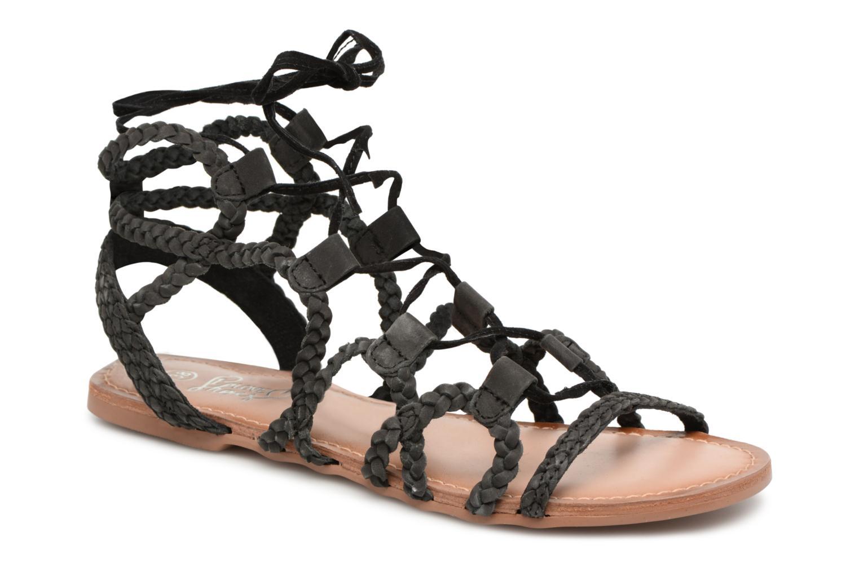 Cuir Supergli - Sandales Pour Femmes / Noir I Love Shoes 2JbXRKR