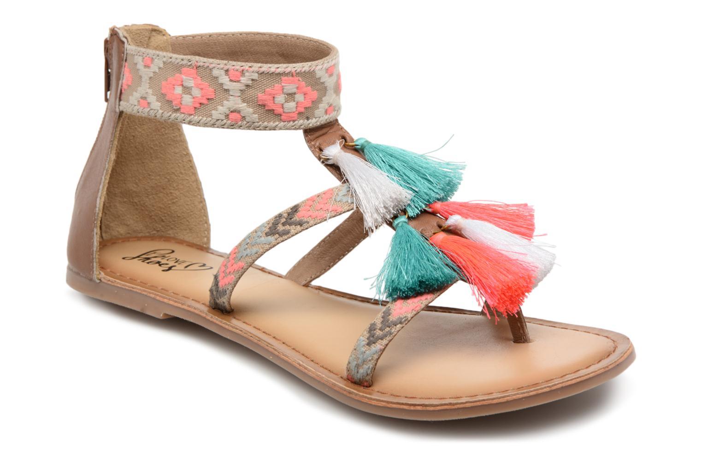 Sandales et nu-pieds I Love Shoes Kebam Leather Multicolore vue détail/paire