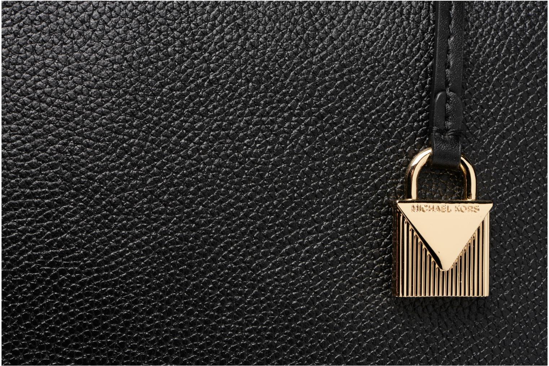 Bolsos de mano Michael Michael Kors Cabas Mercer Gallery LG CENTER ZIP TOTE Negro vista lateral izquierda