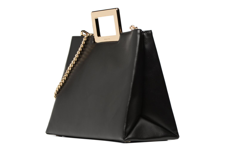 Bolsos de mano Michael Michael Kors Kristen LG TH SATCHEL Negro vista del modelo
