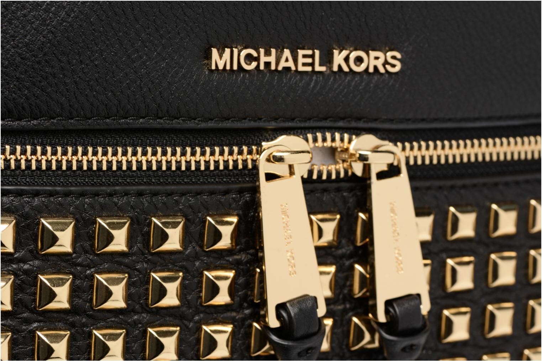 Mochilas Michael Michael Kors Rhea Zip MD PYR STUD  BACKPACK Negro vista lateral izquierda