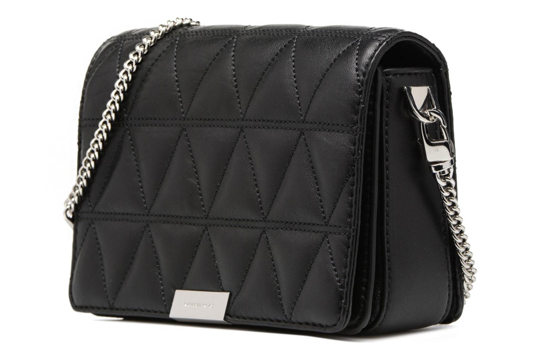 Bolsos de mano Michael Michael Kors Jade MD GUSSET CLUTCH Negro vista del modelo
